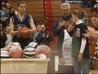 Matt and Shelly Manser collected basketballs on Saturday donated by the Middleton and Janesville Craig basketball teams.