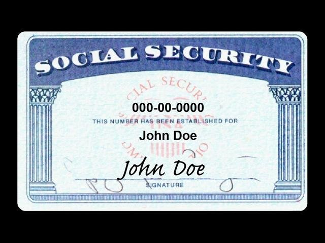 Social security number work and travel usa for Make a social security card template