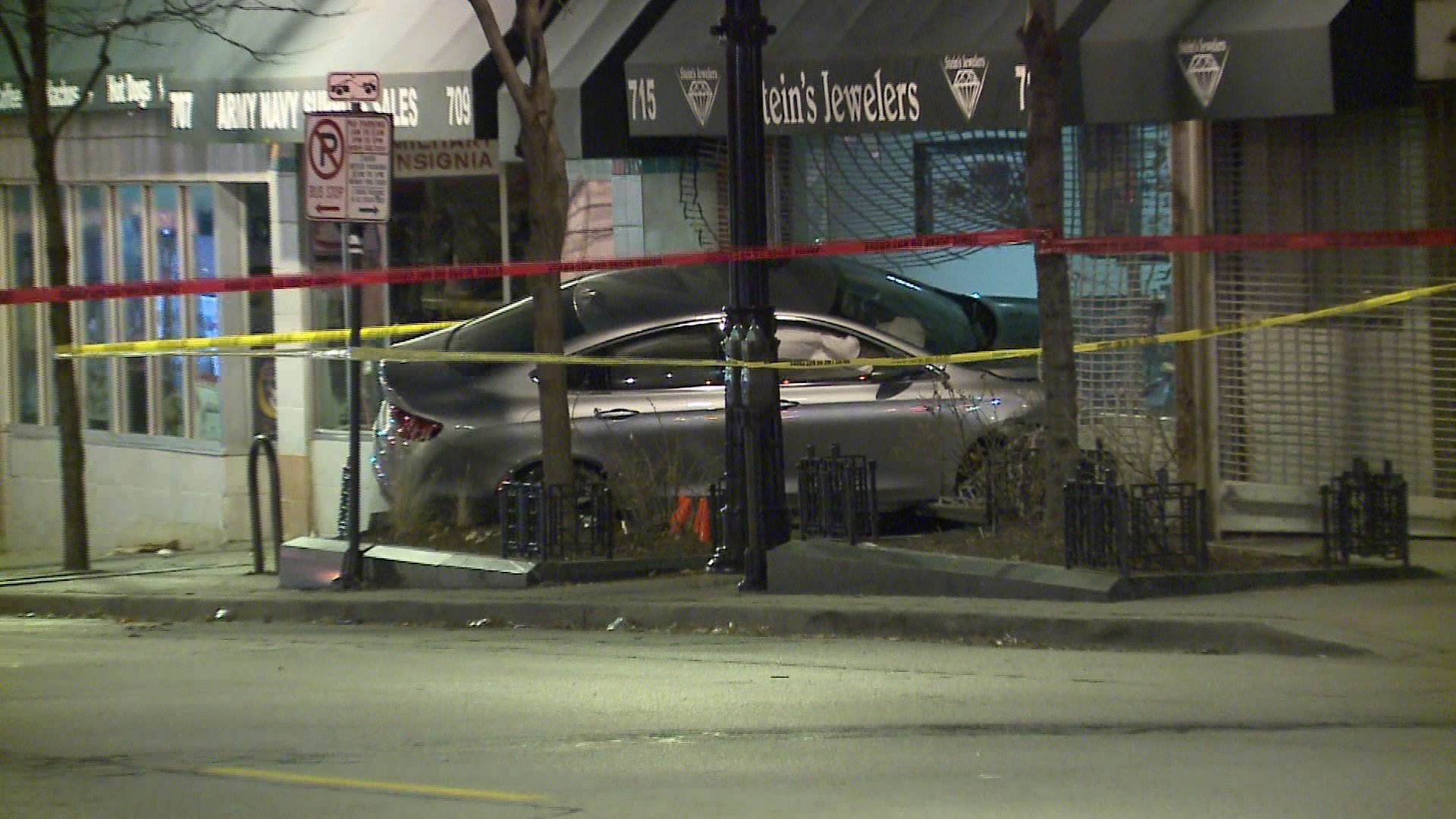 01 20 race through downtown milwaukee ends with car in building