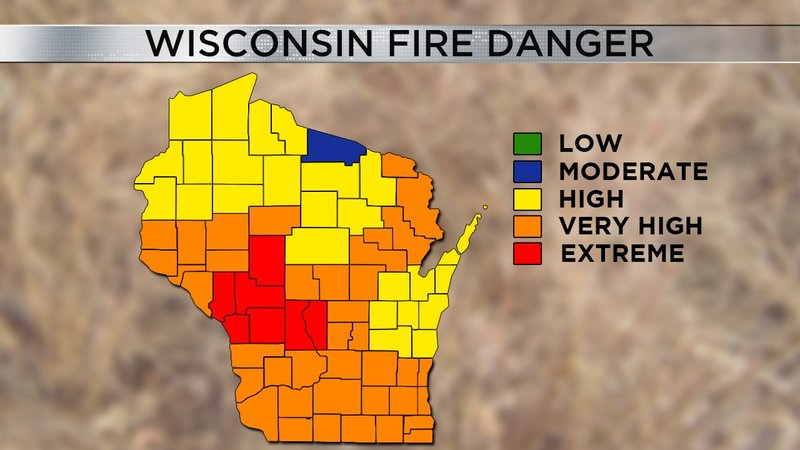 Extreme fire danger continues today for multiple wisconsin for Extreme motors monroe la