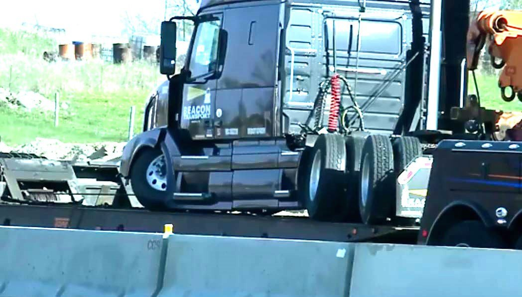 UPDATE: I39/90 northbound reopened following earlier semi crash
