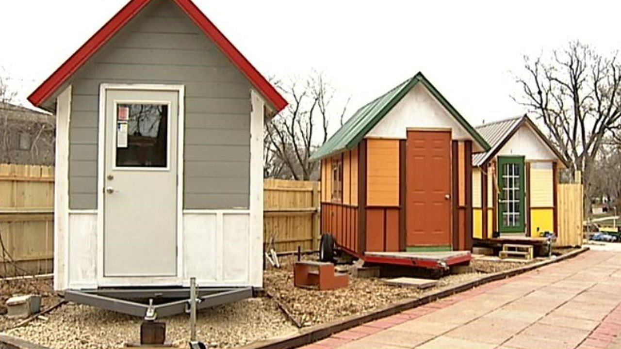 tiny house village survives first winter looks forward to spri
