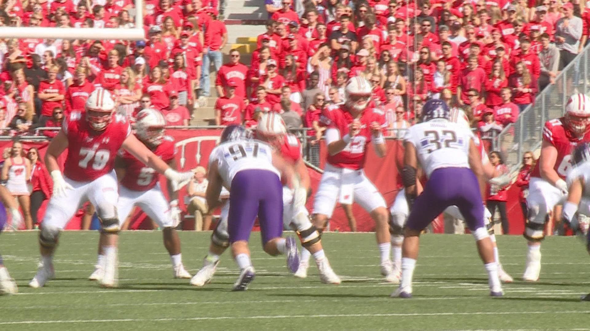 Badgers playing Northwestern at Camp Randall Sept. 30, 2017.