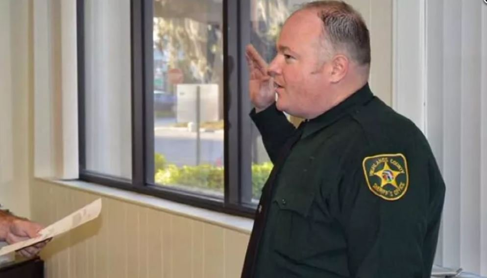 Deputy William Gentry, an eight-year veteran of the force, died one day after he was shot in the head while responding to a dispute over a cat. (Source: WFLA/Highlands County Sheriff's Office/CNN)