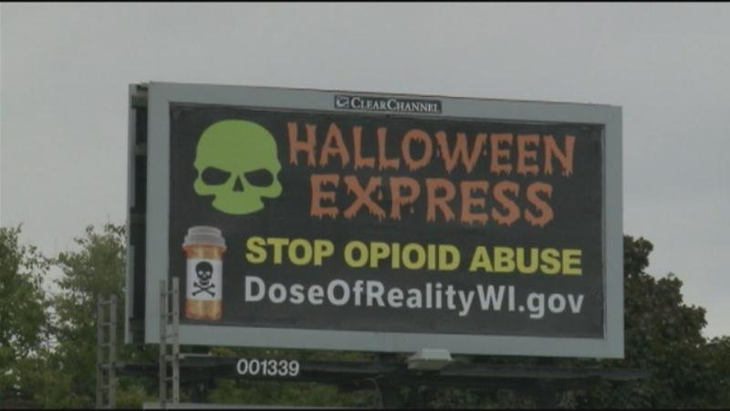 halloween express sends scary message on opioid addiction waow halloween amazing express wausau wi picture inspirations leinenkugels