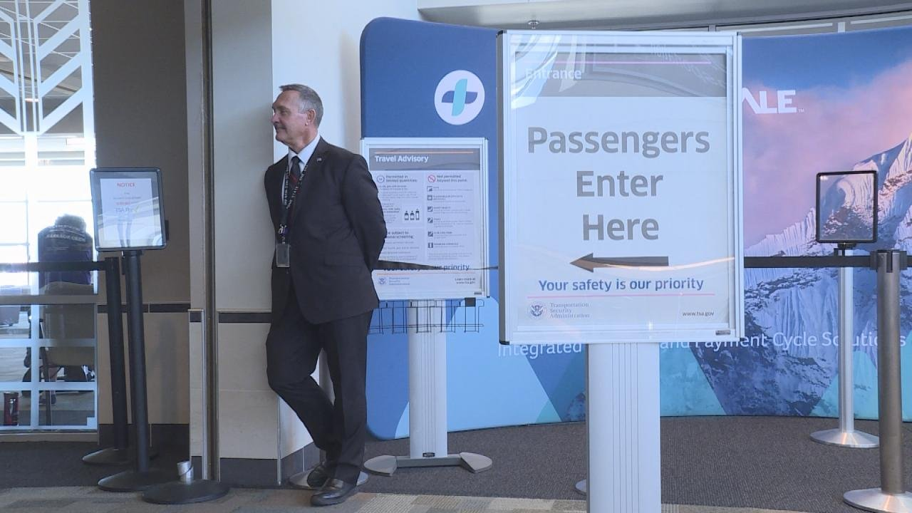 TSA supervisor Rick Spencer outside the security checkpoint at Dane County Regional Airport.